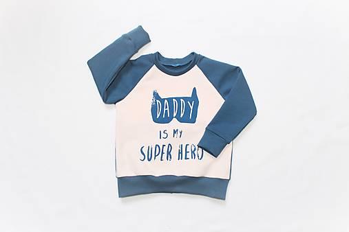 Detské oblečenie - Detská mikinka Daddy, veľkosť 1-2 roky, biela alebo ružová - 9206729_