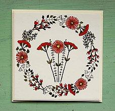 Papiernictvo - jarná pohľadnica - kvetiny - 9207343_