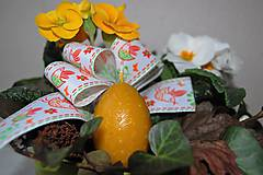Svietidlá a sviečky - Sviečka z včelieho vosku vajíčko - 9210133_