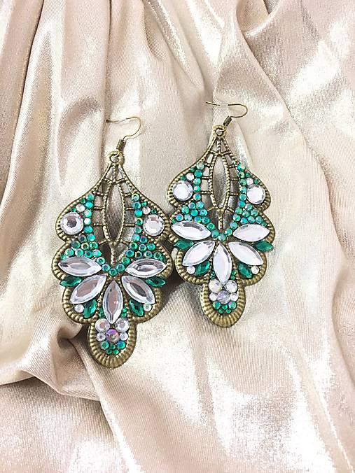 aaa54619a Smaragdovo zelené náušnice / JewelryKejt - SAShE.sk - Handmade Náušnice