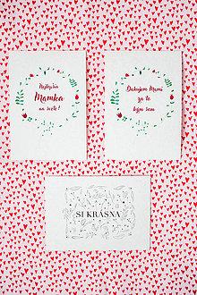 Papiernictvo - Pohľadnice pre maminku - 9206468_
