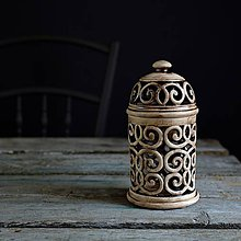 Svietidlá a sviečky - Aromalampa patina burel - 9210227_
