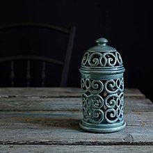 Svietidlá a sviečky - Aromalampa modrá - 9210349_