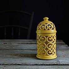 Svietidlá a sviečky - Aromalampa žlutá - 9210369_