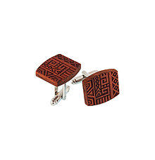 Doplnky - Manžetové gombíky - Padouk - 9209319_