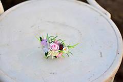 Ozdoby do vlasov - Jemná čelenka s nežným kvetinovým zdobením - 9205764_