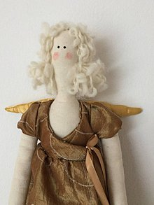 Bábiky - anjelka zlatá - 9206275_