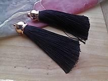 - Hodvábne strapce 8 cm - pár (Čierna) - 9208672_
