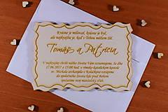 Papiernictvo - Svadobné oznámenie drevené gravírované 1 - 9208381_
