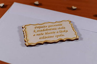Papiernictvo - Pozvánka ku svadobnému stolu doplnok k svadobnému oznameniu - 9208446_