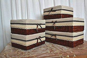 Košíky - Čokoládou a šľahačkou poliate / set - 9207039_