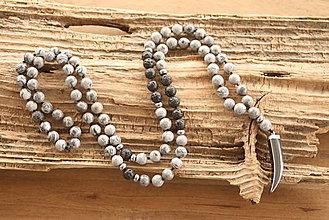 Šperky - Náhrdelník jaspis, láva, hematit - 9214615_