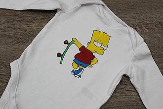 Detské oblečenie - Maľované body Bart - 9211921_