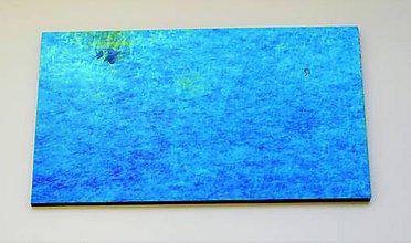 Suroviny - Sklo modré, akvamarínové, priehľadné, zn. Bullseye - 9210875_