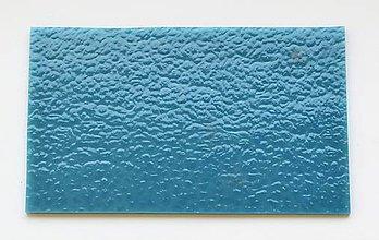 Suroviny - Sklo modré, matné, opálové, zn. Bullseye - 9212716_