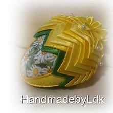 Dekorácie - Veľkonočné vajíčko - žlto zelené - 9210643_
