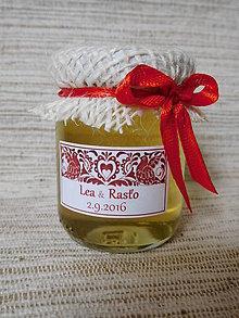 Darčeky pre svadobčanov - MINImedík (medík s etiketou) - 9211784_