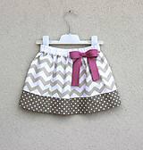 Detské oblečenie - suknička Chevronka béž - 9210794_