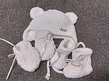 Detské súpravy - Háčkovaná súprava s rukavičkami - 9212769_