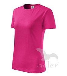 Textil - Dámske tričko ADLER Basic (134), veľkosť L, malinová - 9211698_
