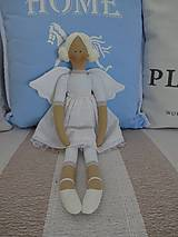 Bábiky - Biely madeirový anjel - 9211275_