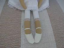 Bábiky - Biely madeirový anjel - 9211279_