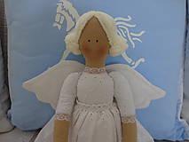 Bábiky - Biely madeirový anjel - 9211281_