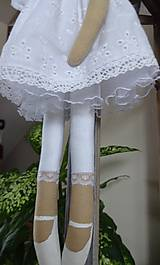 Bábiky - Biely madeirový anjel - 9211285_