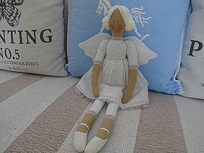 Bábiky - Biely madeirový anjel - 9211280_