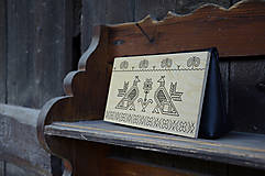 Kabelky - DREVENÁ KABELKA ČIČMANY (20x10x5cm - Čierna/smrek) - 9213904_