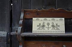 Kabelky - DREVENÁ KABELKA ČIČMANY (20x10x5cm - Čierna/smrek) - 9213905_