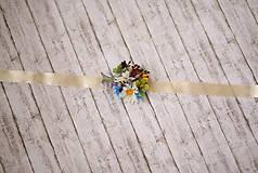 Náramky - Kvetinový náramok pre družičky lúčne kvety - 9214491_