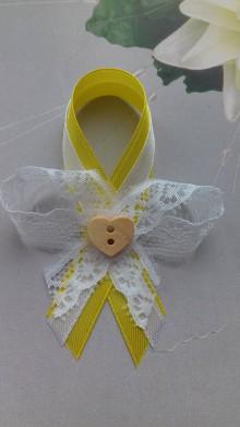 Pierka - svadobné pierko  (žlta - biela) - 9211006_
