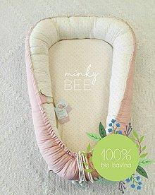 Textil - Luxusné hniezdo pre novorodenca z BIO bavlny -  bodky a kvietky - 9212023_
