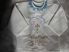 Detské oblečenie - košieľka do krstu - 9211119_
