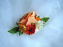 Ozdoby do vlasov - Spona oranžová - 9211722_