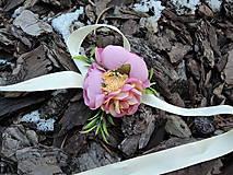 Náramky - Náramok ružovo-žltý - 9213730_