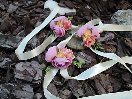 Náramok ružovo-žltý