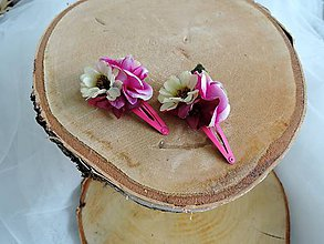 Ozdoby do vlasov - Pukačky ružové - 9213560_