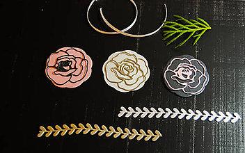 Materiál ručne robený - Papierová dekorácia - kvietky 4ks - 9213602_
