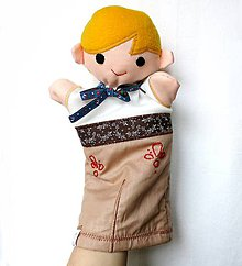 Hračky - Maňuška folk chlapec - Hubert - 9212590_