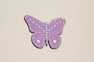 Detské doplnky - Motýľ, dekorácia k menu - 9214711_