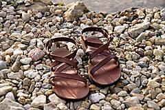 Obuv - Kožené sandále Gallia - 9212109_