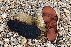 Obuv - Kožené sandále Gallia - 9212115_