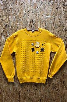 Mikiny - Chateee - dámska komunikačná mikina - žltá (2XL - Žltá) - 9211070_