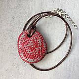 Náhrdelníky - Betónový náhrdelník justStone Red - 9213594_