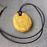 Náhrdelníky - Betónový náhrdelník justStone Yellow - 9213664_