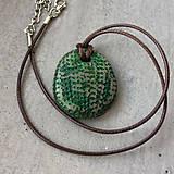 Náhrdelníky - Betónový náhrdelník justStone Green - 9213763_