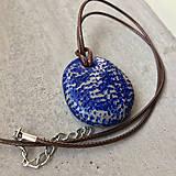 Náhrdelníky - Betónový náhrdelník justStone Blue 02 - 9213808_
