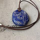 Náhrdelníky - Betónový náhrdelník justStone Blue 02 - 9213811_
